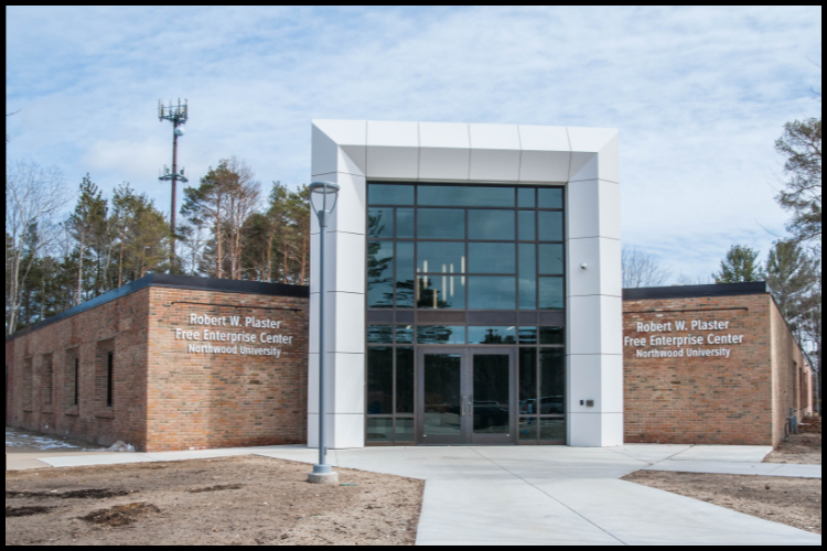 The front of the McNair center